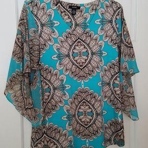 Alfani, Silky blouse top, size M